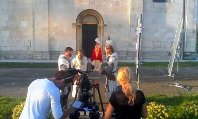 На теренах Давнього Галича відзнято епізоди до бойовика  «Король Данило»