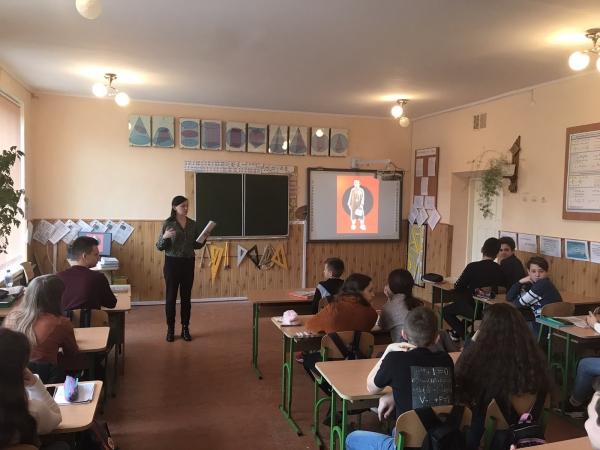 Науковці заповідника започаткували серію інтерактивних уроків про відомих українців для галицьких школярів