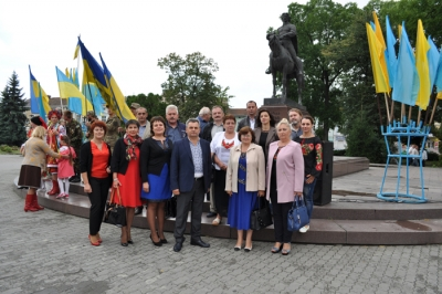 Відзначення 26-ої річниці Незалежності України в Галичі