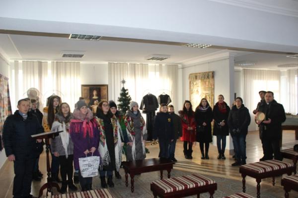 У Національний заповідник «Давній Галич» завітали колядники («Українська молодь – Христові»)